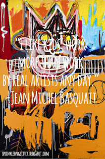 Studying Under the Masters-Jean Michael Basquiat quote