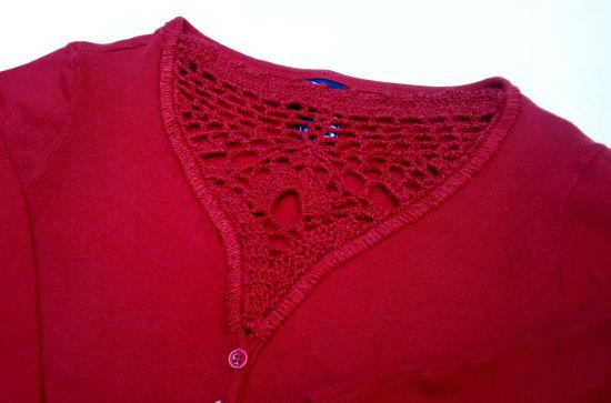 Customização Crochê Blusa CeA Cropped Vermelho