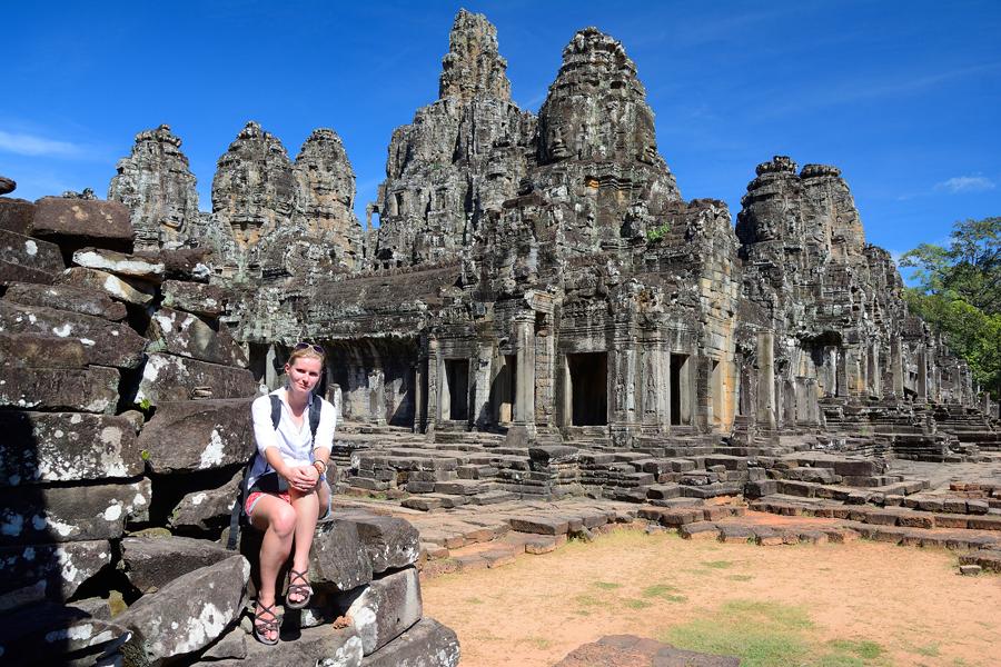 Angkor Thom, świątynia Bajon