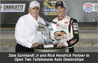 i 39 m just sayin 39 dale jr and rick hendrick open two auto dealerships. Black Bedroom Furniture Sets. Home Design Ideas