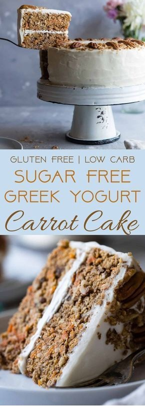 Healthy Gluten Free Sugar Free Carrot Cake