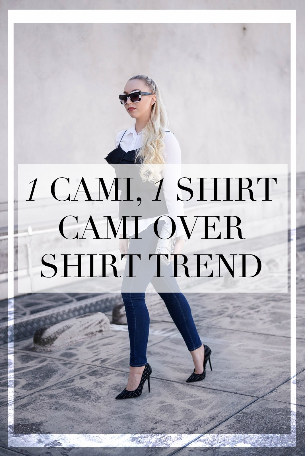 cami over shirt trend