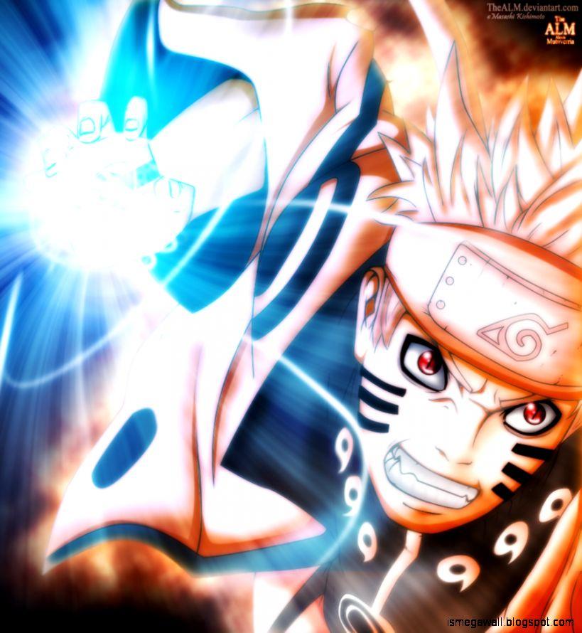 Naruto Rasinggan Bijuu Mode Mega Wallpapers