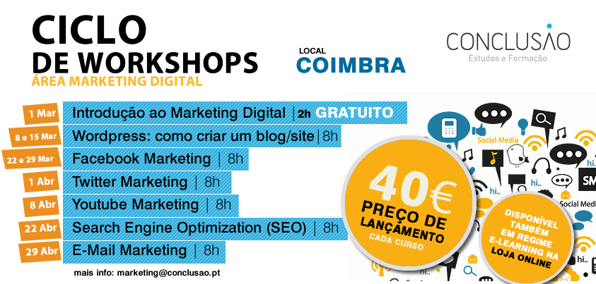 Workshops de marketing digital em Coimbra
