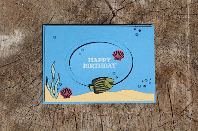 Spinner Cards, Seaside Shore stamp set, Stampin' Up!