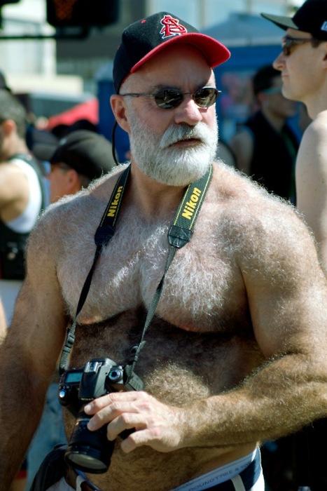 hairy muscle bear man