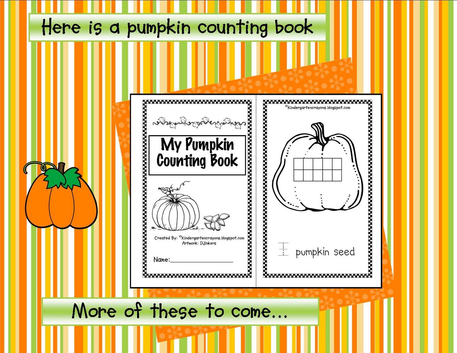 Kindergarten Crayons Pumpkin Seeds Count Them And Eat Them