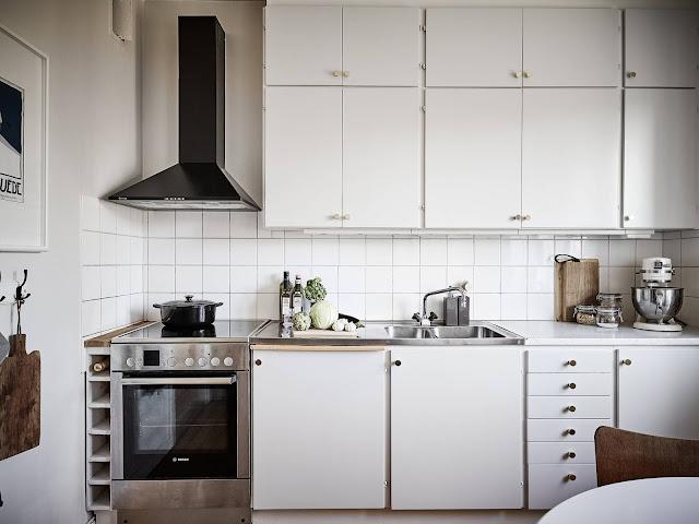 skandynawska kuchnia, biała kuchnia, minimalistyczna kuchnia