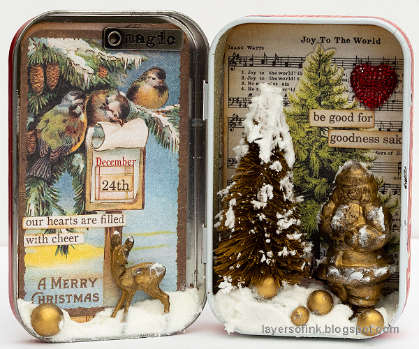 Layers of ink - Vintage Christmas Altered Tin Tutorial by Anna-Karin Evaldsson.