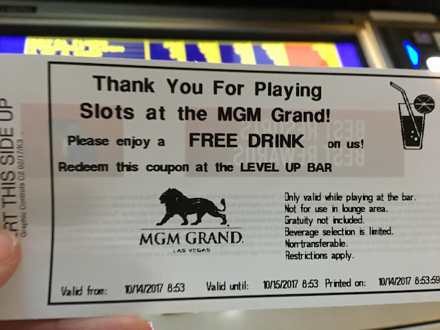 MGM drink ticket. also bogus
