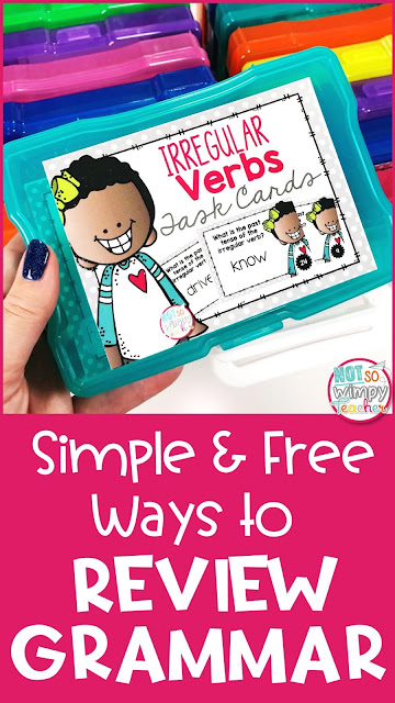 Simple and free activities for spiral review of grammar skills