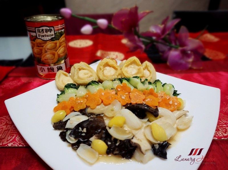 cny fortune brand baby abalone recipe
