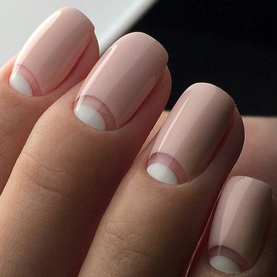 simple nude nail art design
