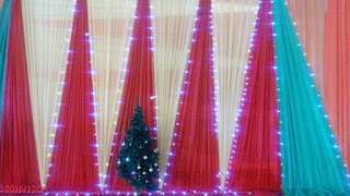 Beautiful Christmas Decorations setup  For Festival of Lessons