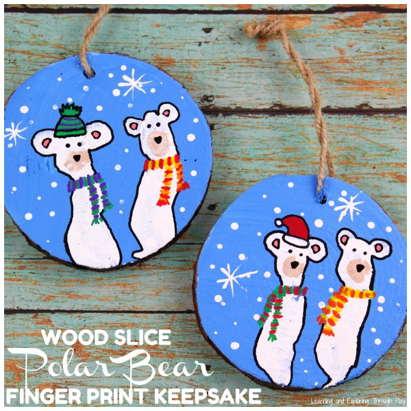 Winter Keepsakes - Polar Bear Finger Print Keepsake
