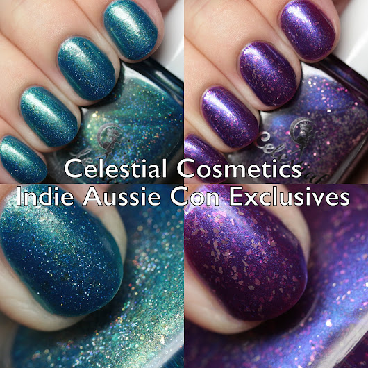 Celestial Cosmetics Aussie Indie Con Exclusives Swatches and Review
