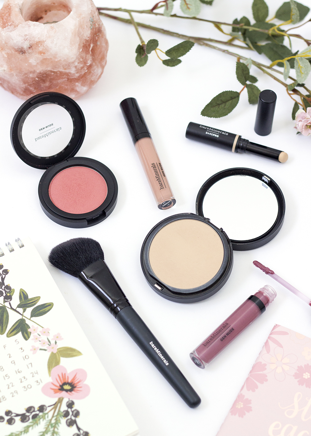 BareMinerals BarePro Powder Foundation, Gen Nude Blush, Patent Lip Lacquers & BarePro Concealer