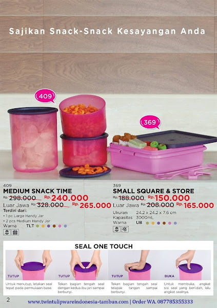 Promo Diskon Medium Snack Time, Small Square Store Oktober 2017
