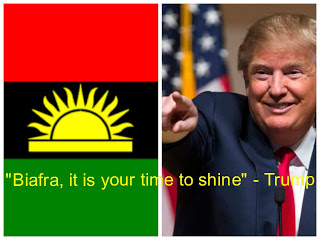 Image result for pictures of Donald Trump and Biafrans