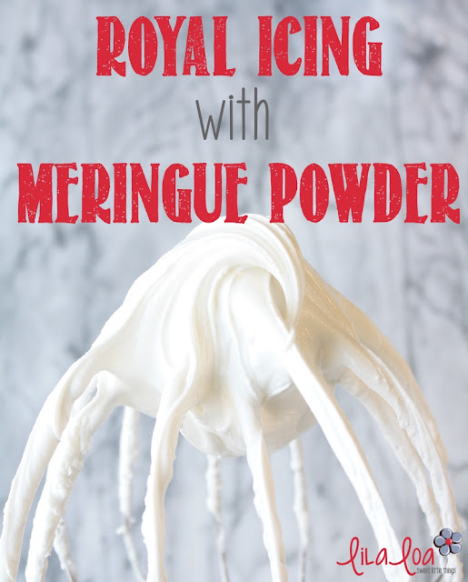 Simple recipe for creamy royal icing using meringue powder
