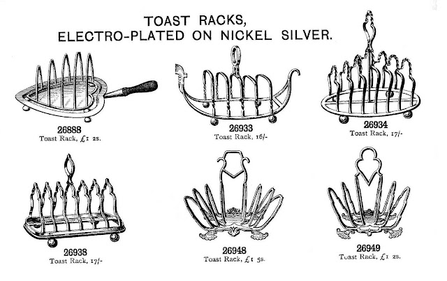 toast racks illustration from catalog, 1900
