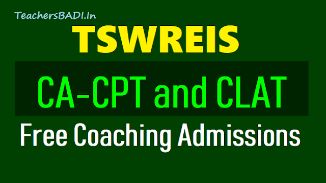 tswreis ca-cpt, clat free coaching admissions 2019,tswreis clat long term free coaching 2019 admissions,tswreis ca cpt long term free coaching 2019 admissions results,online application form