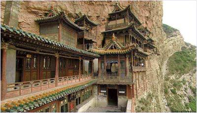 วัดเสวียนคง (Xuankong Temple) / อารามลอยฟ้า (Hanging Temple)