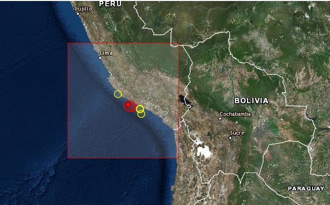 Earthquake Prediction: 5 8R in PERU <--As predicted