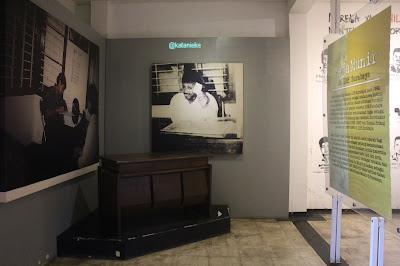 Meja kerja Munir di Museum Munir, Batu.