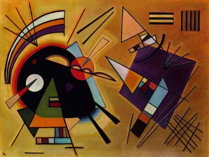 Preto e Violeta - Kandinsky e suas pinturas | O pioneiro da arte abstrata