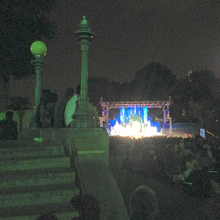 "Audience Sit on the Pavilion at Boston Common during ""Love's Labor's Lost"" for Shakespeare in the Common"
