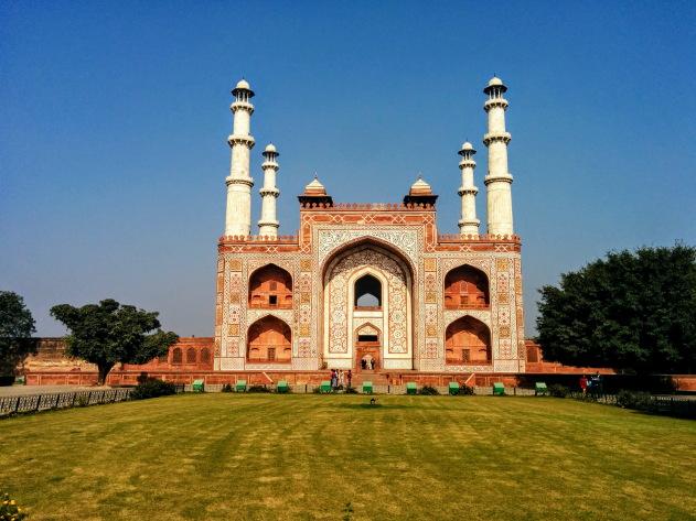 Stunning Akbar's tomb at Sikandra, Agra