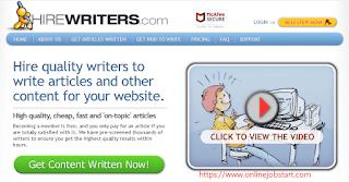 hirewriter.com se paise kaise kamaye