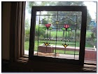 Craftsman Style Stained GLASS WINDOWS For Sale