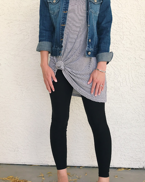 Black solid leggings from Simple Addiction