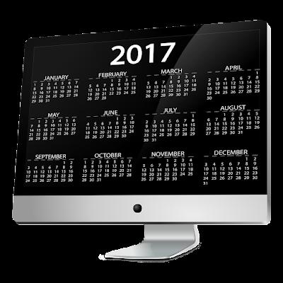 Happy New Year 2017 Calendar HD Wallpaper