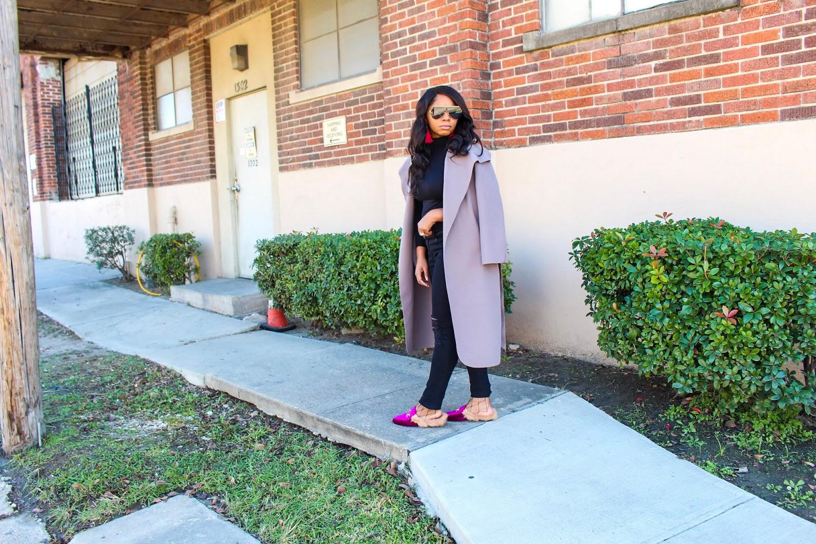 pink mules and collar coat fashion u0026 lifestyle blog
