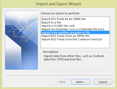 Importing Contacts to Outlook 2016 with CSV File