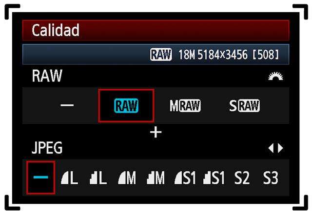 Curso foto - Raw y Jpg - Calidad de imagen