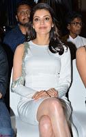 Beautiful Smiling Kajal Aggarwal in Creamy White Gown at MLA Telugu Movie Success Meet ~ .com Exclusive Pics 024.jpg