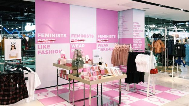 Topshop Feminists don't wear pink pop up shop