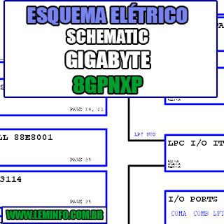 Esquema Elétrico Notebook Gigabyte 8GPNXP Laptop Manual de Serviço  Service Manual schematic Diagram Notebook Gigabyte 8GPNXP Laptop   Esquematico Notebook Placa Mãe Gigabyte 8GPNXP Laptop