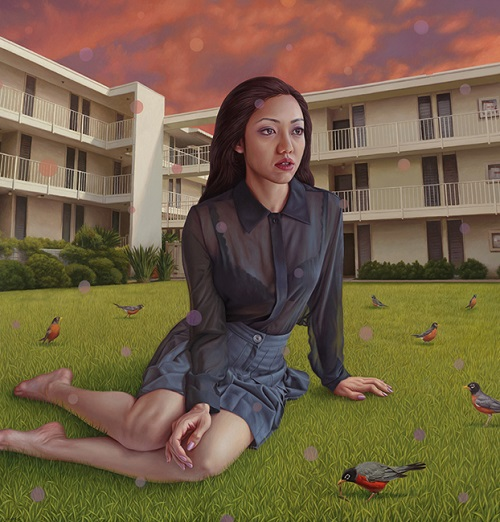 "por Alex Gross - ""Robins"", 2015."