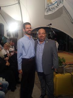 Ο Βαγγέλης Αυγουλάς και ο Πρόεδρος του Συλλόγου Διονύσης Γουράνιος