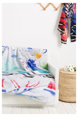 Blue Summer Foular Decorativo Desigual