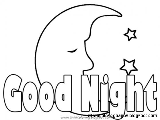 Good Night Coloring Pages Coloring Page