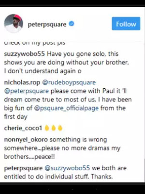 Screenshot 2017 09 18 00 58 57 - ENTERTAINMENT: Paul Psquare throw shades barely 24 hours after Peter denied fans' suspicion of beef between them