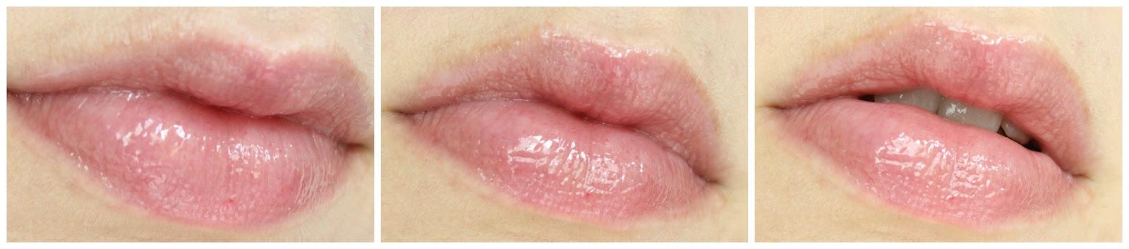 Lippen mit Clinique Superbalm Moisturizing Gloss Raspberry