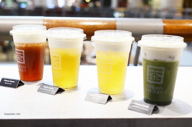 Cheese Crema flavours- Black Tea, Green Tea, Osmanthus Oolong and Japanese Matcha