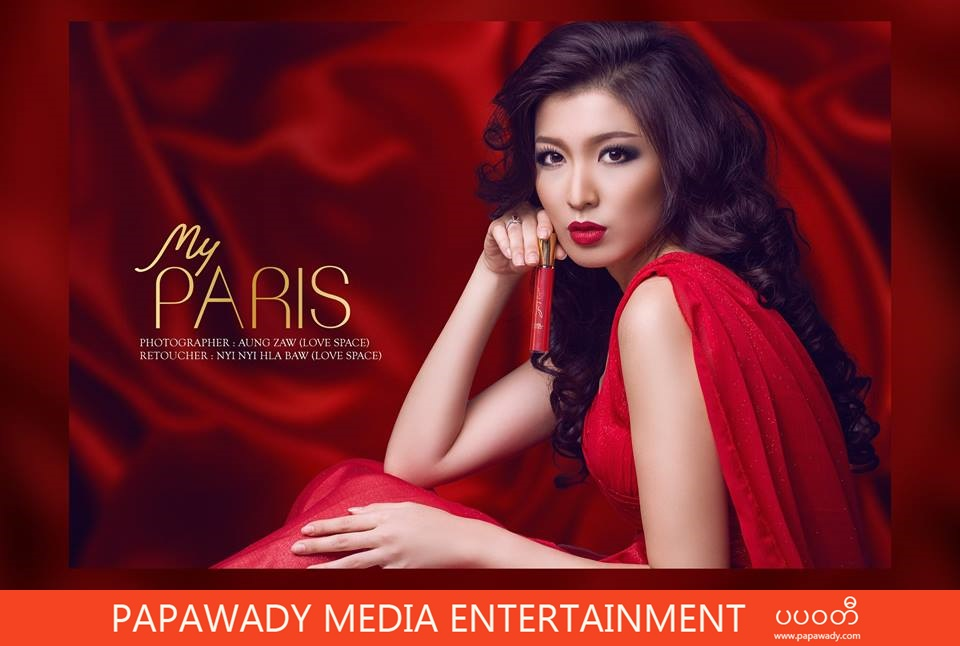 My Paris Cosmetic Commercial Photoshoot and Myanmar Models , Actresses